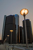 Detroit, Michigan - The Renaissance Center, which houses General Motors headquarters and a Marriott Hotel.