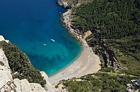 Cala del Coll Baix, Mediterranean Sea, Mallorca, Balearic Islands, Spain.