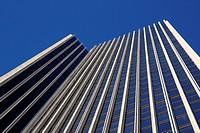 View up Mayor Erastus Corning Tower in Albany, NY, USA.