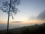 Sun rise from Chaeng hill, Chiang rai Thailand.
