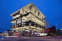 Parking garage at 1111 Lincoln Road, Miami Beach, Miami, Florida (architect = Herzog & De Meuron), USA