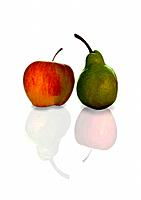 Compare symbol of apple and pears.