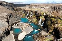 Sigöldugljúfur Waterfall - Landmannalaugar Region - Southern Iceland