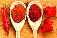Chili Cayenne and bishop´s crown with chili powder.