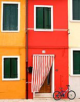 Colorful houses, Burano island, Venice, Veneto, Italy, Europe.