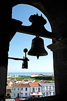 Bells in a catholic church at the Azores islands, Portugal.