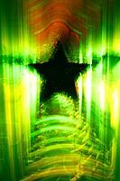 Green Christmas star.