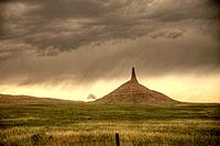 Nebraska Western Chimney Rock near Bridgeport.