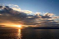 Sunset, Sullivan Bay, Santiago Island, Galapagos Islands, Ecuador.