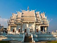 Buddhist Monastery, Wat Rong Khun at Chiang Rai, Thailand.