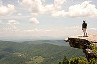 Appalachian Trail McAfee Knob near Roanoke Virginia USA.