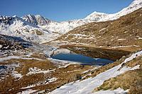 Snowdonia Mountain range reflected in Llyn Teryn.