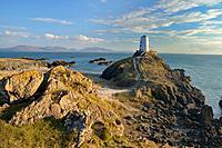 Llanddwyn Lighthouse Anglesey North Wales.