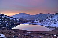 Dawn Llyn Teyrn Snowdonia National Park North Wales.