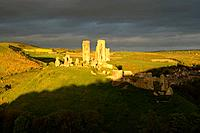 Storm Clouds over Corfe Castle Dorset.