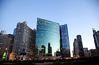 West Wacker Drive Skyline in Chicago.