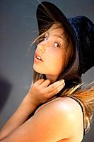 Young Lady with Hat.