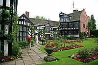 Gawsworth New Hall country house stately home Cheshire England UK a Grade 2 star II* listed black and white building.