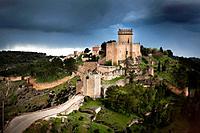 Castle of Alarcón, Parador Nacional Turismo. Cuenca province. Spain.