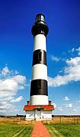 Bodie Island Light Station, Cape Hatteras, North Carolina, USA.