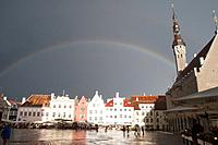 Rainbow, Town Hall Square, Tallinn, Harju, Estonia.
