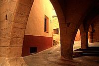 town hall and market arcades, sixteenth century. Beceite. Teruel.1015