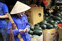 Vietnam, Hanoi, Long Bien wholesale market.	1015