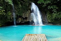 The Kawasan Waterfalls in Badian on Cebu, Philippines.