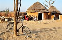 Farmer house. Thar desert, India.