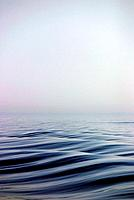 Boat wake, Gulfe de Morbihan, Brittany, France.