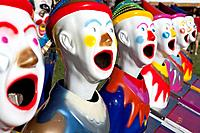 Fairground clowns, Bellengen, NSW, Australia.