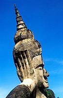 "Reclining Buddha, Xieng Khuan """"Buddha Park"""", Vientiane , Laos."