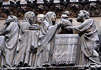 Paris, France, detail of Notre-Dame Cathedral