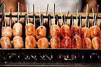 Barbecue Sausages in Bangkok.