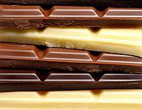 Chocolate - dark, milk and white.