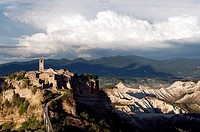 Civita di Bagnoregio and Calanchi. Viterbo District, Lazio, Italy.