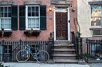 Houses in Greenwich Village, Manhattan, New York City.