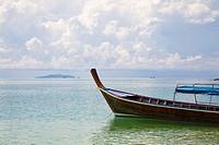 Longtail boat at Ko Ngai, Thailand. Andaman sea