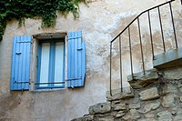 House of Gordes village, labeled The Most Beautiful Villages of France, Vaucluse department, Provence-Alpes-Cote d´Azur region. France.