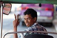 Tuk Tuk Driver in Phnom Penh, Cambodia