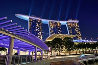 Marina Bay Sands Hotel at night. Singapore.