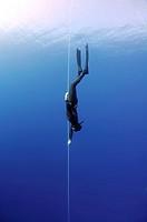 Freediver, Mediterranean Sea, Kash, Turkey.