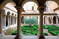 Cloister of Aix cathedral, Aix en Provence, France.