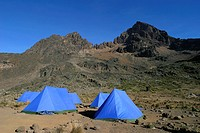 Tent Camp Mawenzi Kilimanjaro NP Tanzania.