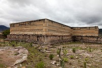 Zapoteca constructions and their mosaic fretwork: Mitla Archaeological Site at Oaxaca, Mexico.