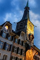 A major landmark in the city of Solothurn, Switzerland. It was built in 1467 and in 1545 the astronomic clock dial was added by Lorenz Liechti and Joa...
