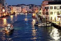 Cityscape in Venice at dusk Veneto Italy.