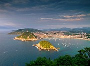 Donostia - San Sebastian - view from Mont Igueldo, Basque Country, Spain.