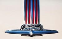 Trunk ornament of 1951 Pontiac Chieftan.