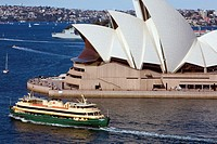 Sydney ferry passes by the Sydney Opera House,New South Wales,Australia